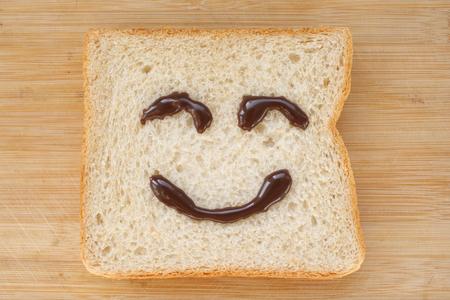 Glückliches Gesicht Brot