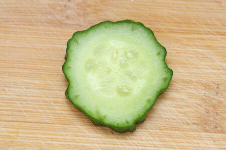 bisected: cucumber slice Stock Photo