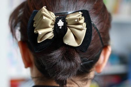 černé vlasy: Černé vlasy bun
