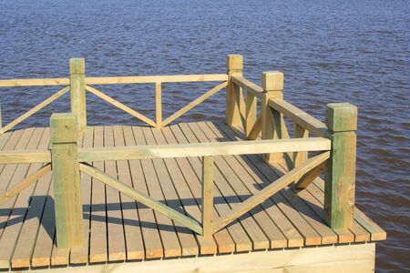the bigger picture: wooden jetty