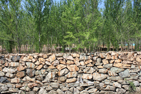 gabion wall photo