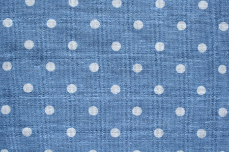 polka dots: White dots on blue