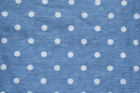 polka dots: White dots on blue