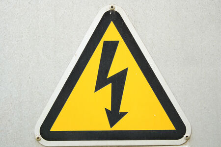 voltage gray: Electrical power sign