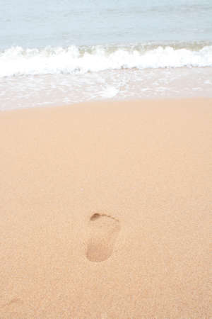 footstep: Footstep on the sand