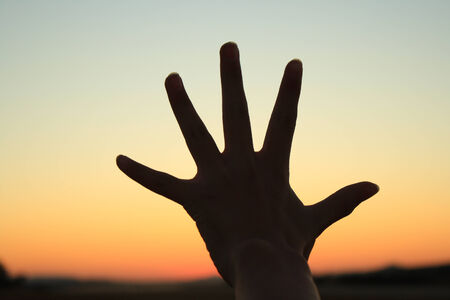 hand sign: hand sign silhouette