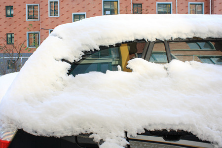deep powder snow: Car Buried in Snow