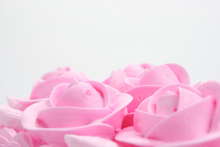 flower head: Wedding Cake Stock Photo