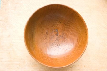Wooden bowl photo