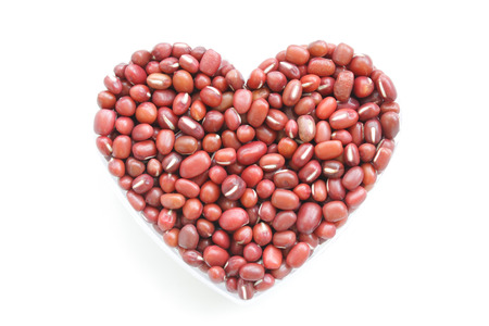 Beans are combined into the shape of heart photo