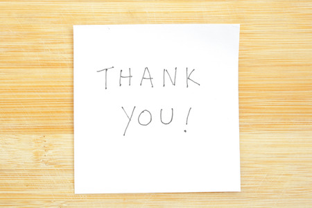 Thank You Post-it Note photo