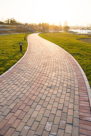 yellow stone: Sidewalk