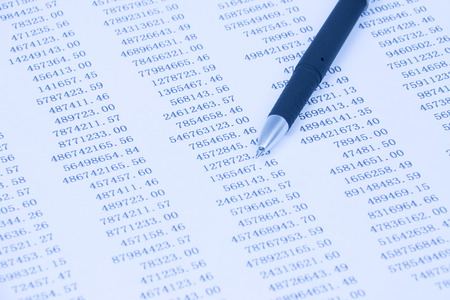 Financial statements Stock Photo