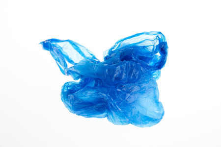 Plastic bag on white background