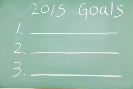 2015 Goals written with on the blackboard photo