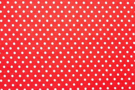 red polka dot fabric photo