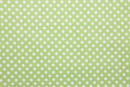 polka dot fabric: tessuto a pois verde Archivio Fotografico