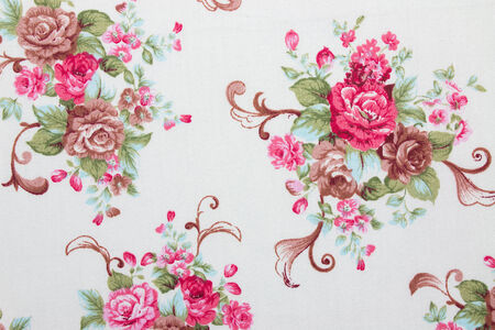 modern pattern: floral fabric background
