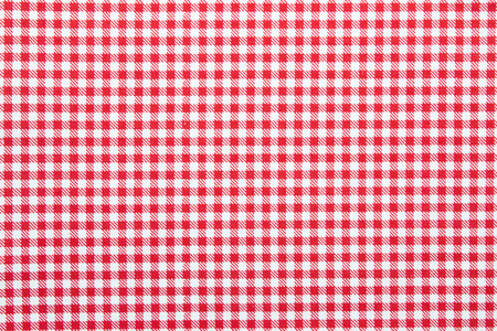 red tablecloth: gingham fabric background Stock Photo