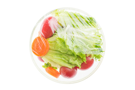 vegetable salad in glass bowl