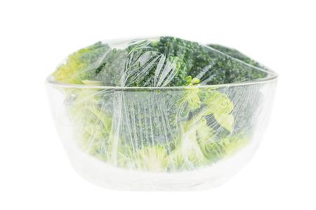 broccoli in a glass bowl