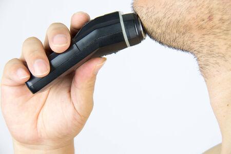 electric razor: Shaving with an electric razor