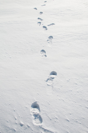 dint: footprints in snow
