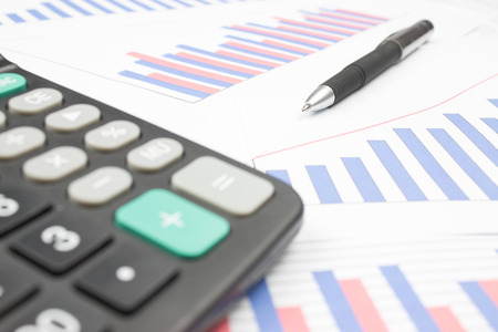 financial statements: Financial statements Stock Photo