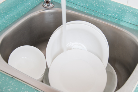 dishes in the sink photo