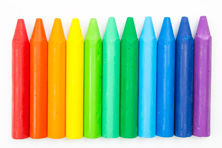 Colorful crayons Standard-Bild