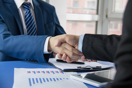 business people handshaking Stock Photo - 36781667