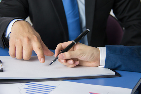 Business people meeting site Stock Photo