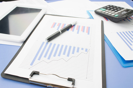 financial statements: Close-up of financial statements Stock Photo