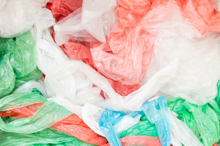 Disposable plastic bags Stock Photo