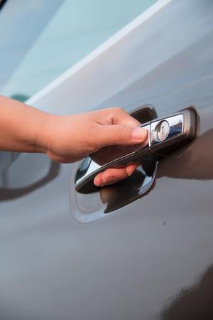 open car door: Women open car door