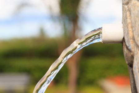 plastic pipe: Plastic pipe in the drain Stock Photo