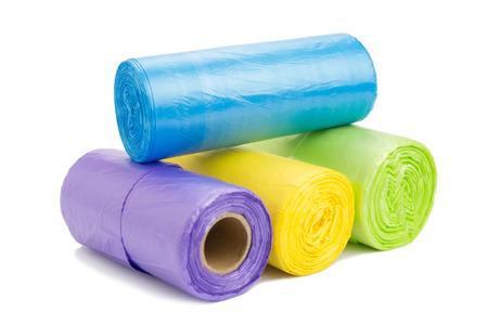 色のゴミ袋ロールします。