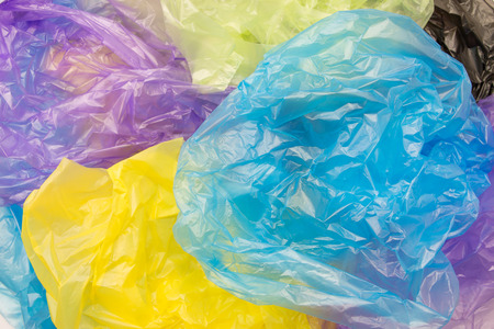 Disposable plastic bags Stockfoto