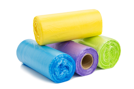 tool bag: Colored garbage bags roll