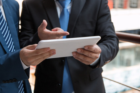 Businessman using a tablet