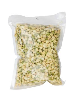 plastic bags: Dry jasmine in plastic bags