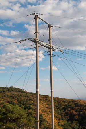 telephone: telephone pole Stock Photo