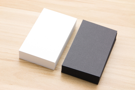 black wood texture: Business card at the desk