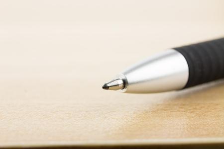 tip up: Close Up of a pen tip