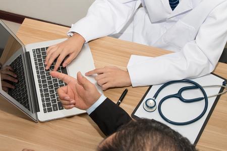 Doctor and patient Standard-Bild