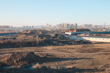 mining town: Coal field in the modern city