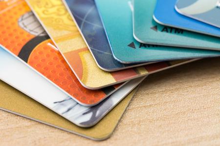 Many bank cards Standard-Bild