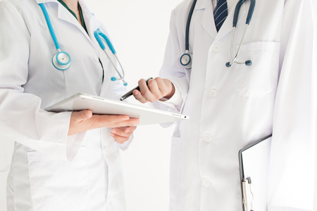 Two doctors having discussion