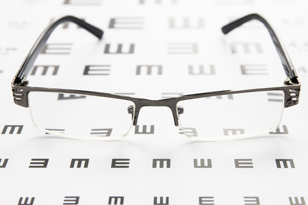 eye chart: Glasses on eye chart