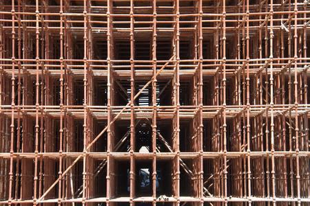 andamios: andamio de obra de construcción
